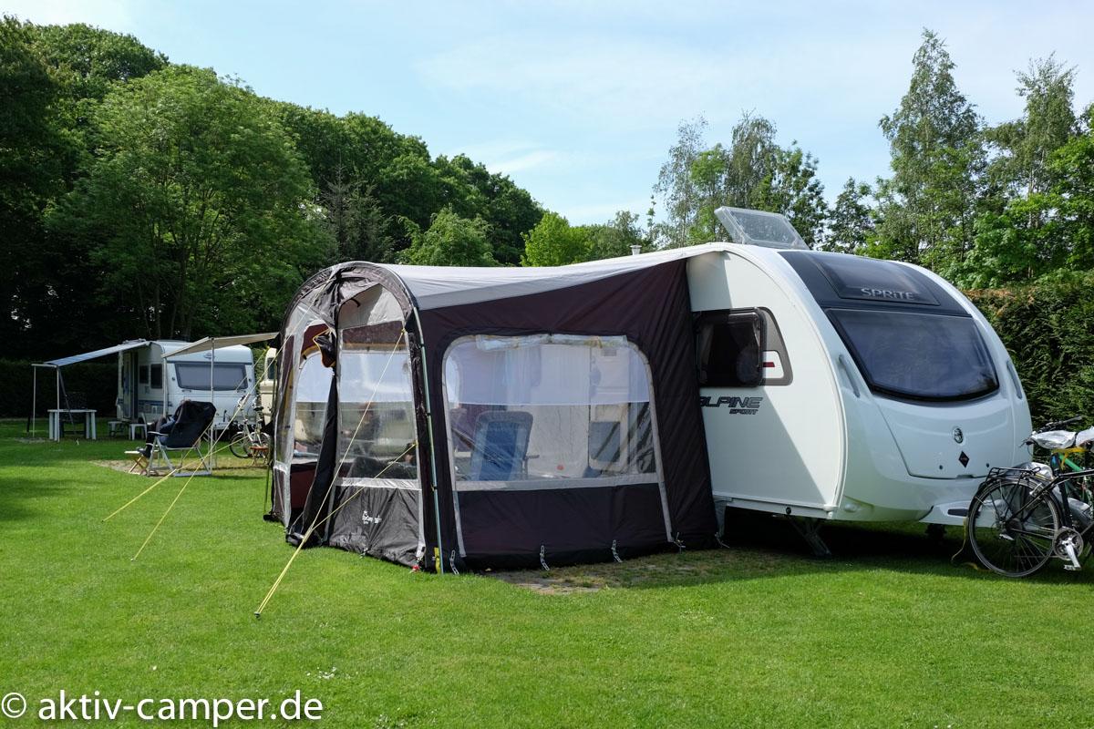 """Standplatz auf dem Capingplatz """"Niew Camping"""" in Aalten."""