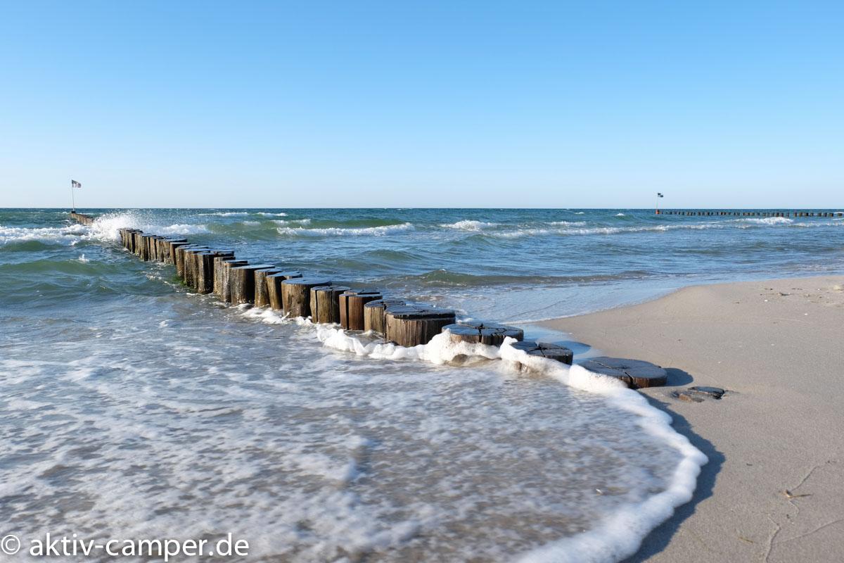Die Ostsee zum Weststrand