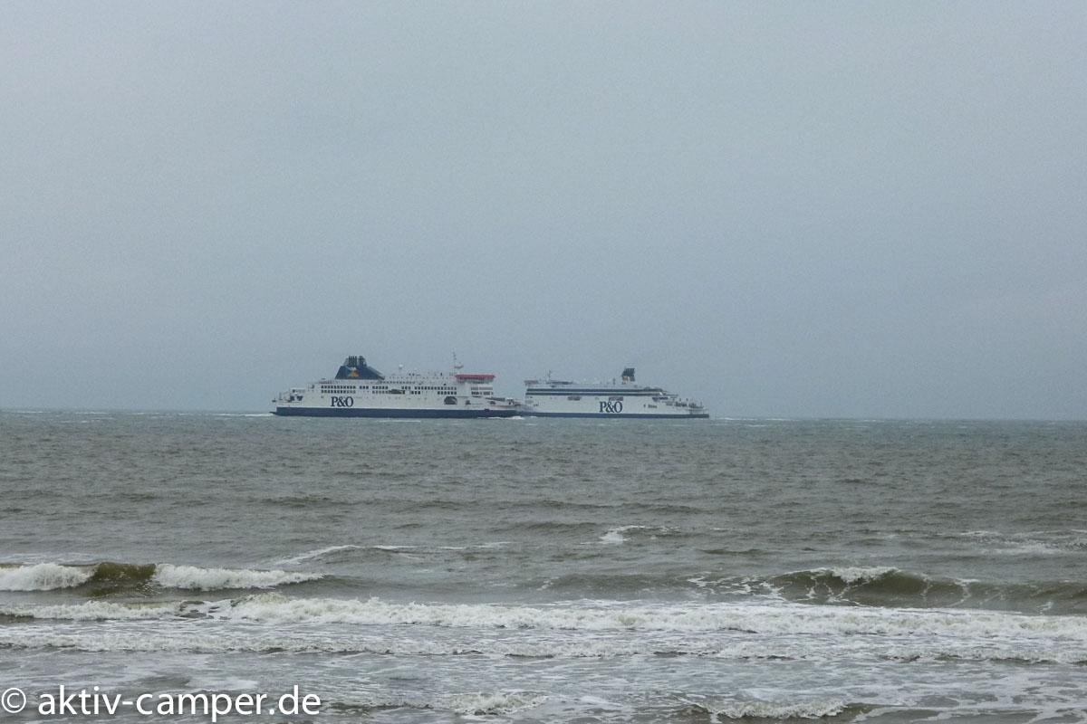 Die Fähren von und nach England