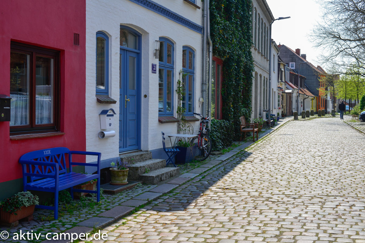 Alte Häuser mit schönen Fassaden in Eckernförde und Kappeln