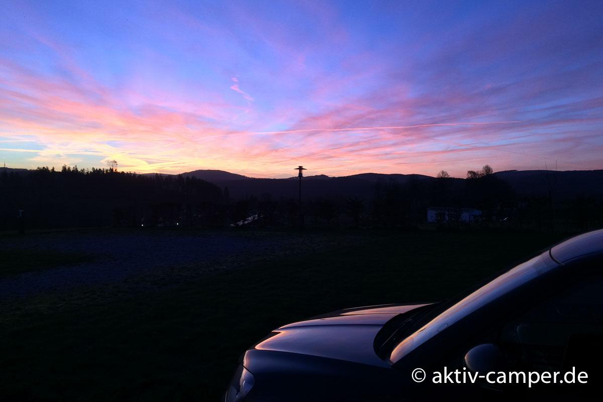 Kalt und schön: Sonnenaufgang im Winter