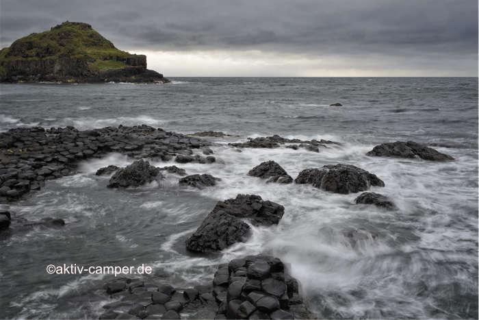 Blick auf die Giants in Nordirland