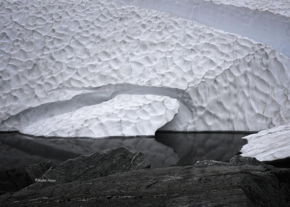 Schnee im Sognefjell