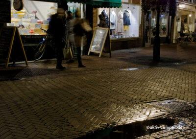 Innenstadt Alkmaars am Abend