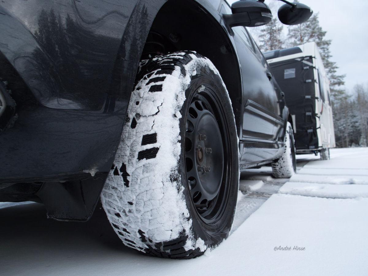 Nokian Tyres WR D4 auf dem Skoda Yeti in Lappland