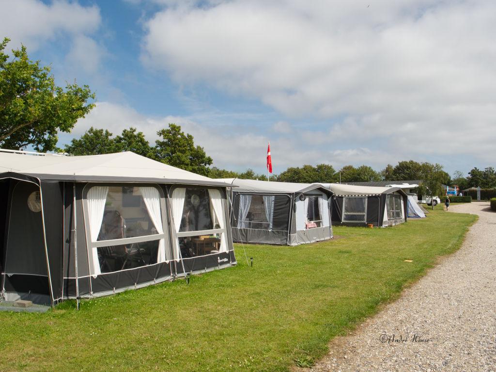 Stellplätze auf dem Campingplatz in Esbjerg