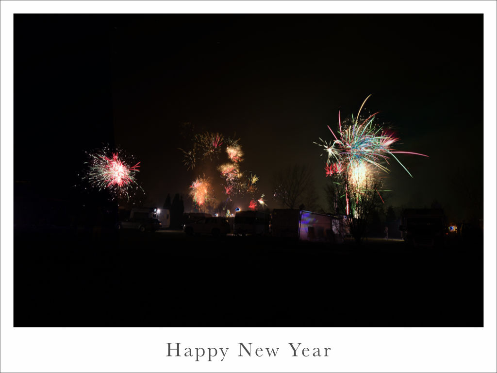 Feuerwerk am Campingplatz Zierow