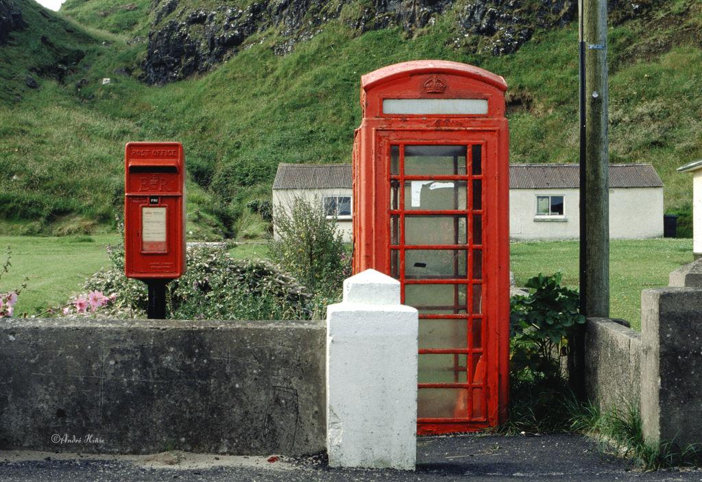 Telefonzelle in Schottland 1995