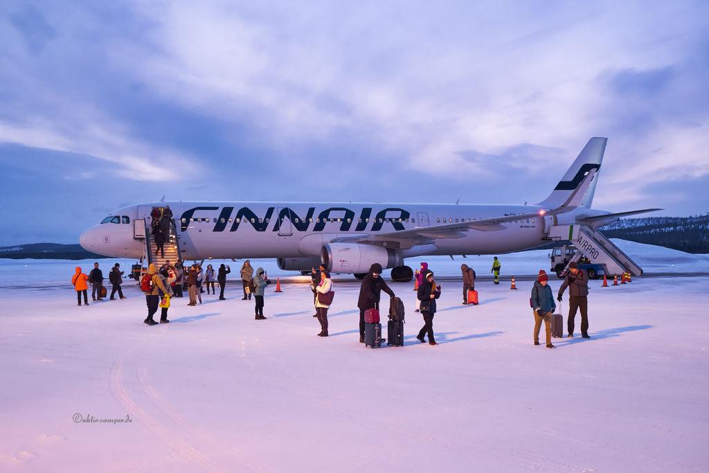 Landung auf Schnee mit einem Airbus A321
