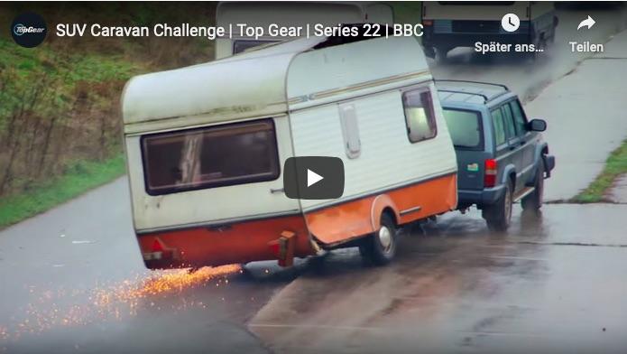 SUV Caravan Challenge von Top Gear
