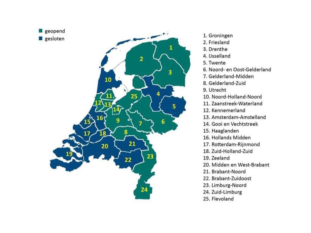Übersicht der geöffneten Campingplätze der Niderlande im Frühjahr 2020