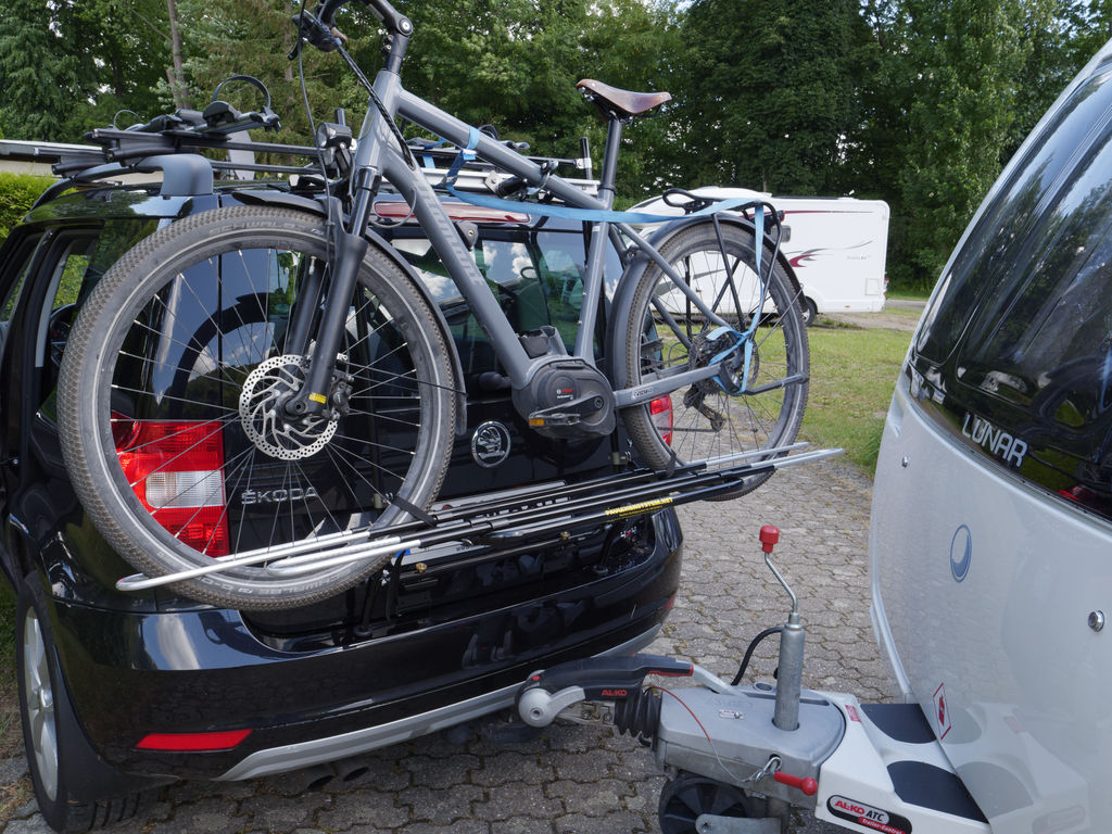 Testfahrt mit Paulchen und Wohnwagen