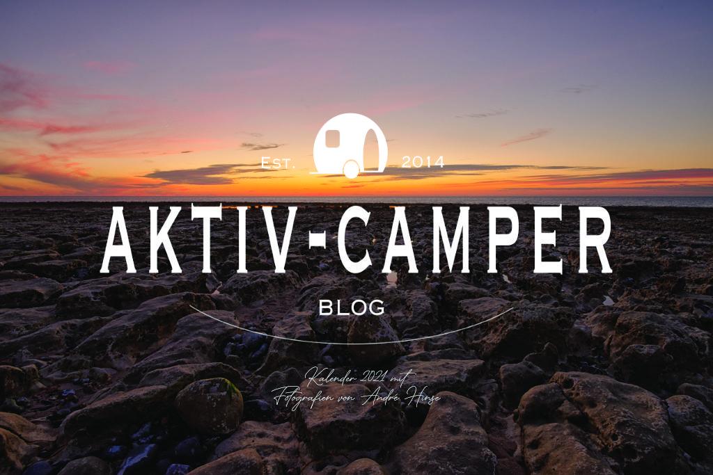 Titelseite aktiv-camper.de Kalender 2021