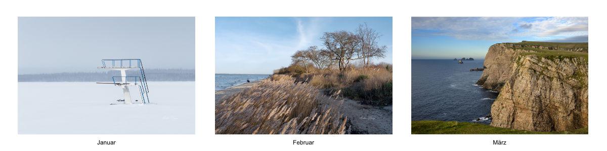 Bilder Januar bis März Kalender 2021