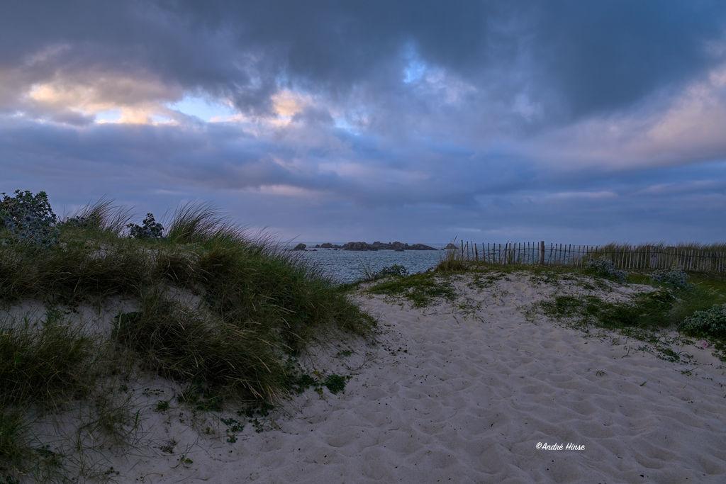 Abendhimmel in der nördlichen Bretagne