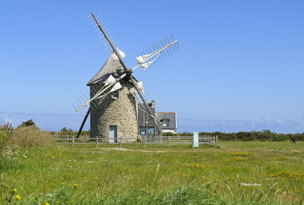 Windmühle in der Bretagne