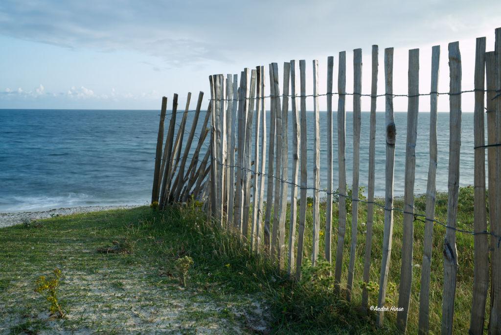 Küstenzaun in der Bretagne