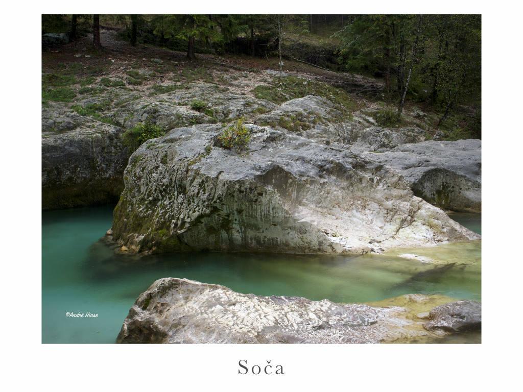 Der Fluß Soca in Slowenien